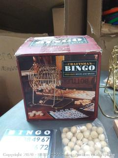 Craftsman Bingo premium wood and brass