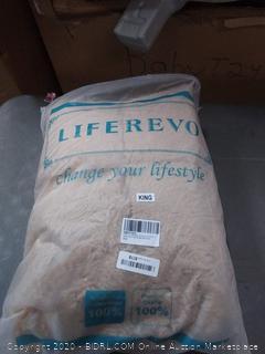 liferevo luxury plush Shaggy duvet cover set 1 Fox 4 duvet cover + 2 pom poms Fringe pillow shams(King)