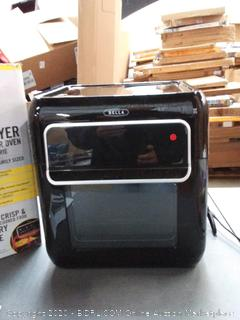 Bella air fryer dehydrator oven with rotisserie (powers on)(used)