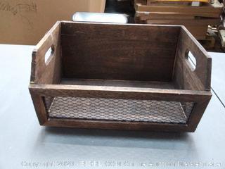 wooden mail holder (small crack back)