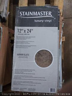Stainmaster  luxury vinyl color Harbor slate peel and stick(4 boxes)