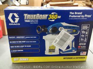 truecoat 360 DS true airless paint sprayer (used)(powers on)