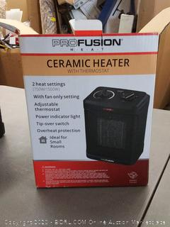 Profusion Ceramic Heater With Adjustable Thermostat 750/1500W
