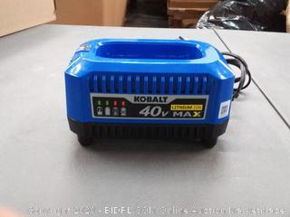Kobalt 40v lithium ion Max battery charger blue