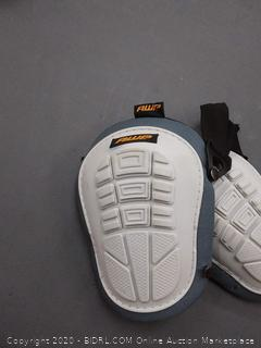 awp work knee pads white and gray