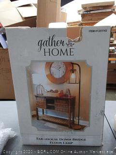 gather home Farmhouse down Bridge floor lamp