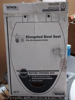 Kohler elongated bowl seat 18 5 / 8 in
