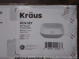 Kraus soft Square ceramic sink