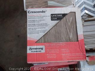 Armstrong Flooring 12 x 12 10.100 inch thick groutable vinyl tile Crescendo pattern not giving me any square footage are there it is (24 pieces per box 24 square feet)(10 boxes)