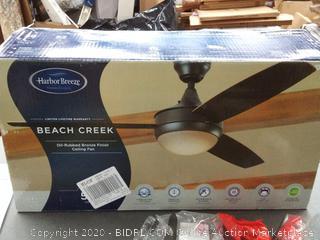 Harbor Breeze Beach Creek 52-in Bronze Indoor Ceiling Fan with