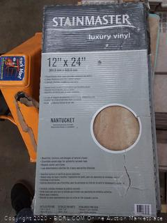 stainmaster luxury vinyl 12 in x 24 in tile Nantucket 18 tiles per box 36 square feet per box 8 boxes