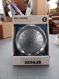 KOHLER Bellhaven Polished Chrome 1-Spray Shower Head at