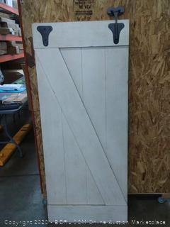 Liberty Furniture white barn door( missing roller Hardware)