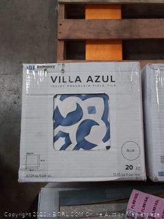 Villa Azul inkjet porcelain field tile 20 pieces 13.45 square feet per box(6 boxes 120 tiles)