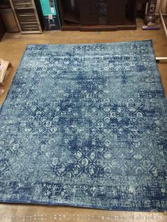 Bodrum 8'x10' blue area rug