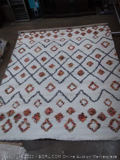 Nuloom Expo shag 8'x10' white area rug