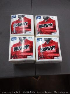 Brawny Professional 1/4-Fold A400 Disposable Cleaning Towels (4 packs)