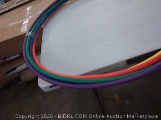 set of five hula hoops rainbow colors