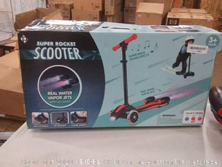 Super Rocket scooter red and black(have to turn wheels by shifting body weight)