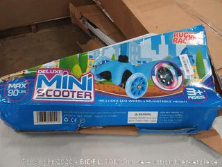 rugged racers Deluxe mini scooter age is 3 +