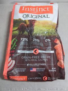 Nature's Variety Instinct Grain Free Salmon Dog Food 20 lb (online $59)