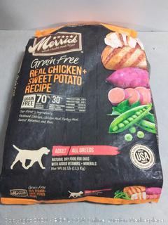 Merrick Grain Free Real Chicken - Sweet Potato Recipe 25 lb bag (online $58)