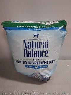 Natural Balance LID Lamb & Brown Rice Puppy Formula Dry Dog (online $52)