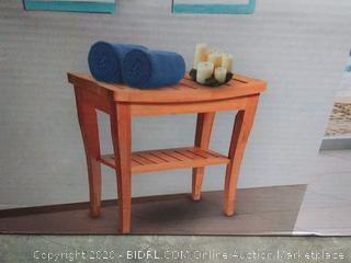 house ur home bamboo shower bench with wine glass holder(Factory Sealed)COME PREVIEW!!!!!