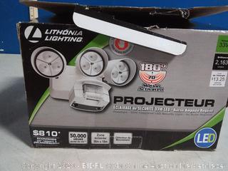 Lithonia Lighting 3-Light Outdoor LED Motion Flood Light White