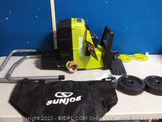 Sun Joe CJ603E 15-Amp 1.7-Inch Cutting Diameter Electric Silent Wood Chipper/Shredder, Green(powers on) online $168