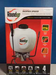 Roundup 190314 Backpack Sprayer for Fertilizers, Herbicides, Weed Killers & Insecticides, 4 Gallon(Factory Sealed) online $55