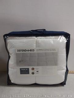 defend a bed ultimate alternative down baffle box quilted mattress twin XL