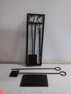 4 piece fireplace tool set