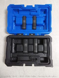 Kobalt 3/8-in Drive 6-point Metric Impact Deep Socket Set ( pieces missing)