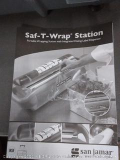 safe - t - rap station portable wrapping station with integrated dating label dispenser
