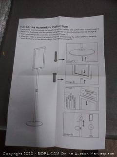 display to go pedestal sign holder stand with telescoping post double-sided poster frame for 11 x 17 graphics