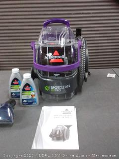 BISSELL SpotClean Pet Pro Portable Carpet Cleaner, 2458(powers on)