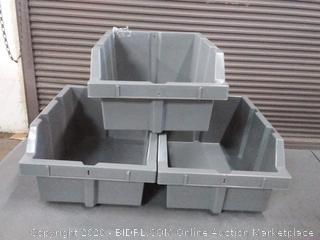Seville Classics WEBK400 Bins for Commercial Bin Rack System, 3-Pack