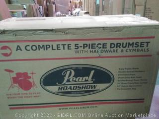 Pearl Drum Set, Red Wine, 5 piece COMPLETE (RS525SC - ReviewMeta.com