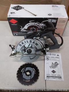 Skil SPT77W-01 7-1/4 Inch Worm Drive Circular Saw -SKILSAW Blade(Powers on)