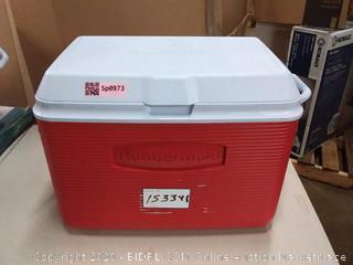 Rubbermaid 48 quart cooler red