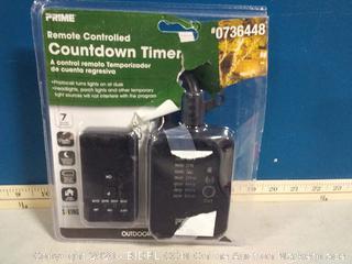 PRIME 2-Outlet Digital Countdown Lighting Timer