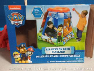 Paw Patrol All Paws On Deck Playland Ball Pit with 9 Balls