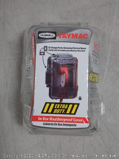 TayMac 1-Gang Rectangle Plastic Weatherproof Electrical Box Cover