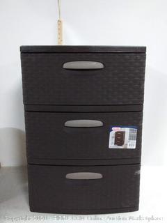 Sterilite weave 3 drawer