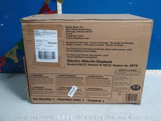 Radio Flyer® Peanut Electric Ride-On Elephant with Sounds(Factory Sealed/Box Damage)COME PREVIEW!!!!! (online $129)