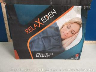 """RELAX EDEN Adult Weighted Blanket W/Removable, Washable Duvet Cover  15 lbs, 60""""x 80"""" Size (online $80)"""