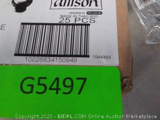 Amerock Allison Value 1.1875-in Polished Chrome Round Transitional Cabinet Knob 25 pack (online $47)
