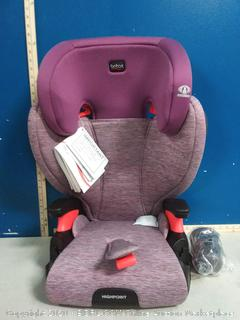 Britax Highpoint Belt-Positioning Booster Seat - 40 to 120 pounds - 3 Layer Impact Protection, Mulberry (online $127)