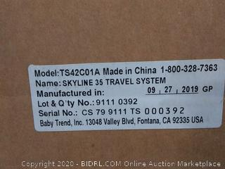 Baby Trend Skyline 35 Travel System - Starlight Pink(Factory Sealed) COME PREVIEW!!!!! (online $179)